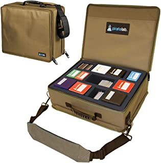 Pirate Lab MTG Card Storage Case, Holds 18 Deck Boxes (1300+ Cards) - Shoulder Strap, Foam Tray and Dividers - TCG, Yu-Gi-...