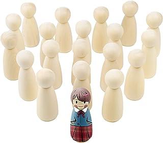 Diealles Shine 65mm Muñecas de Madera, 20 Piezas Muñeca sin Terminar Decorativa, Peg Dolls para DIY Manualidad Decoración ...