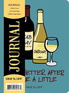 Paperworks Wine Is Life Small Journal, 160 Lined Pages, Assorted Designs, Design May Vary (04057)