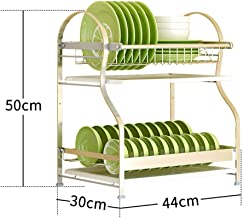 Kitchen Shelf - 304 Stainless Steel Dish Drain Shelf - Cutlery Storage Rack - 2/3 Layers Optional for Kitchen, Storage