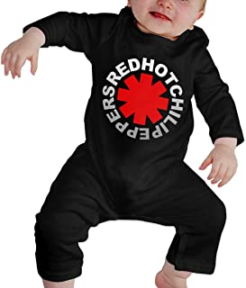 Baby Cotton Romper Jumpsuits Long Sleeve, Chili Peppers Red Hot