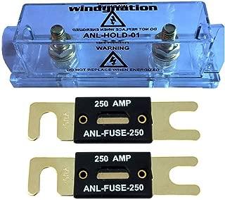 WindyNation ANL Fuse Holder + ANL Fuse (2pcs 250A Fuse)