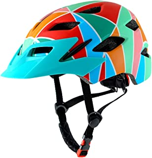 Bavilk Bike Helmets for Kids Child Youth Adjustable Multi-Sport Bicycle Cycling Scooter CPSC Certified with LED Light Deta...