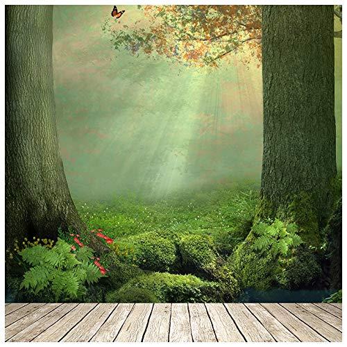 azutura Zauberwald Fototapete Schmetterlingsbaum Tapete Mädchen Schlafzimmer Dekor Erhältlich in 8 Größen Riesig Digital