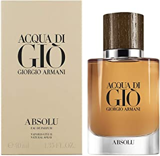 GIORGIO ARMANI Acqua Di Gio Absolu for Men Eau De Parfum Spray 1.35 Oz, clear