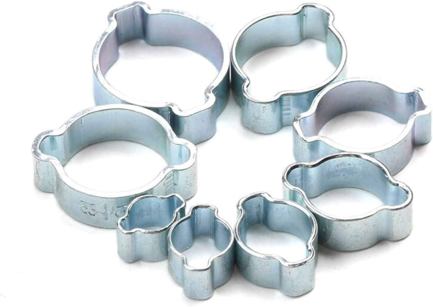 Size : 5 7mm Petrol Pipe Clips Clamps Clips Fuel Clamps Kit 10Pcs Hose Clamp Double Ears 5-20mm Worm Drive Fuel Water Hose for Silicone Or Rubber Hose Fuel