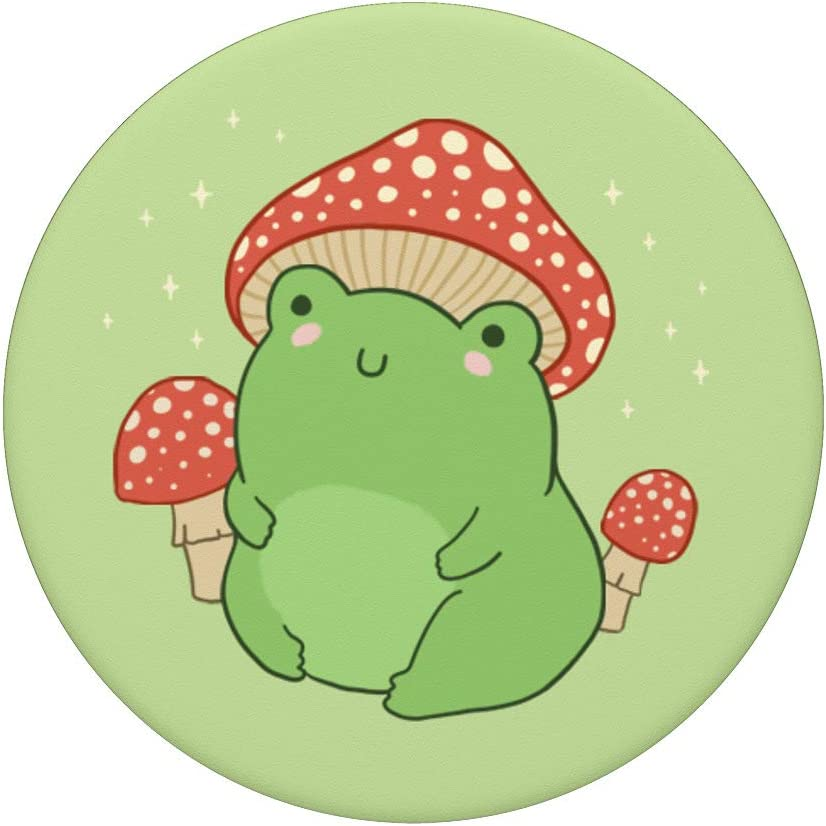 Amazon Com Cute Frog Mushroom Hat Cottagecore Aesthetic Popsockets Swappable Popgrip Cell Phones Accessories