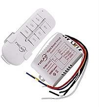 dewanxin Hot 1/2/3posibilidades 220V inalámbrica mando a distancia Interruptor 190V de 240V encendido/apagado Interruptor emisor Receptor Módulo de relé para lámpara luz