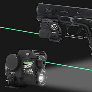 Lasercross Tactical Compact Green Dot Laser Sight,LED Flashlight Combo with 20mm Rail Picatinny On/Off Switch for Air Pistol,Airgun,Modem Semi-Automatic Pistols,Handgun,Shotguns,Rifle etc