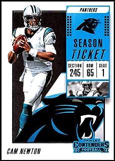2018 Panini Contenders Season Tickets #84 Cam Newton Carolina Panthers NFL Football Trading Card