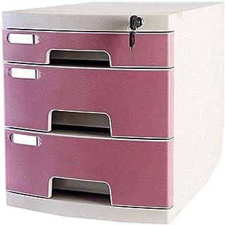 GQQ Armoires de Classement Mobiles Armoire de Classement Verrouillable Boîte de Rangement En Plastique de Stockage de Donn...
