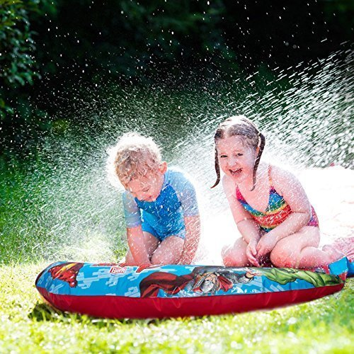 Marvel Avengers Childrens Kids Slip N Slide 6m Aqua Garden Water Soak Splash Slide Spray Sprinkler Pool Toy