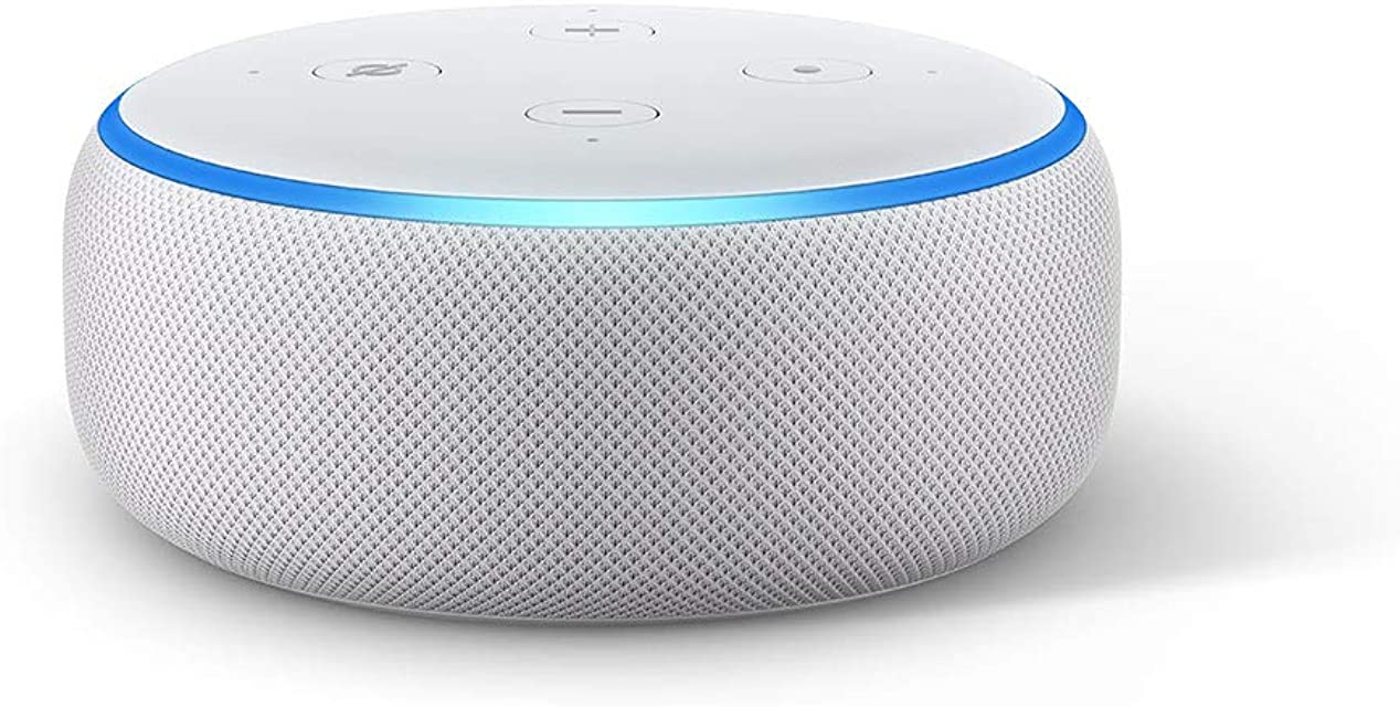 Echo Dot (3.ª generación) - Altavoz inteligente con Alexa tela de color gris claro