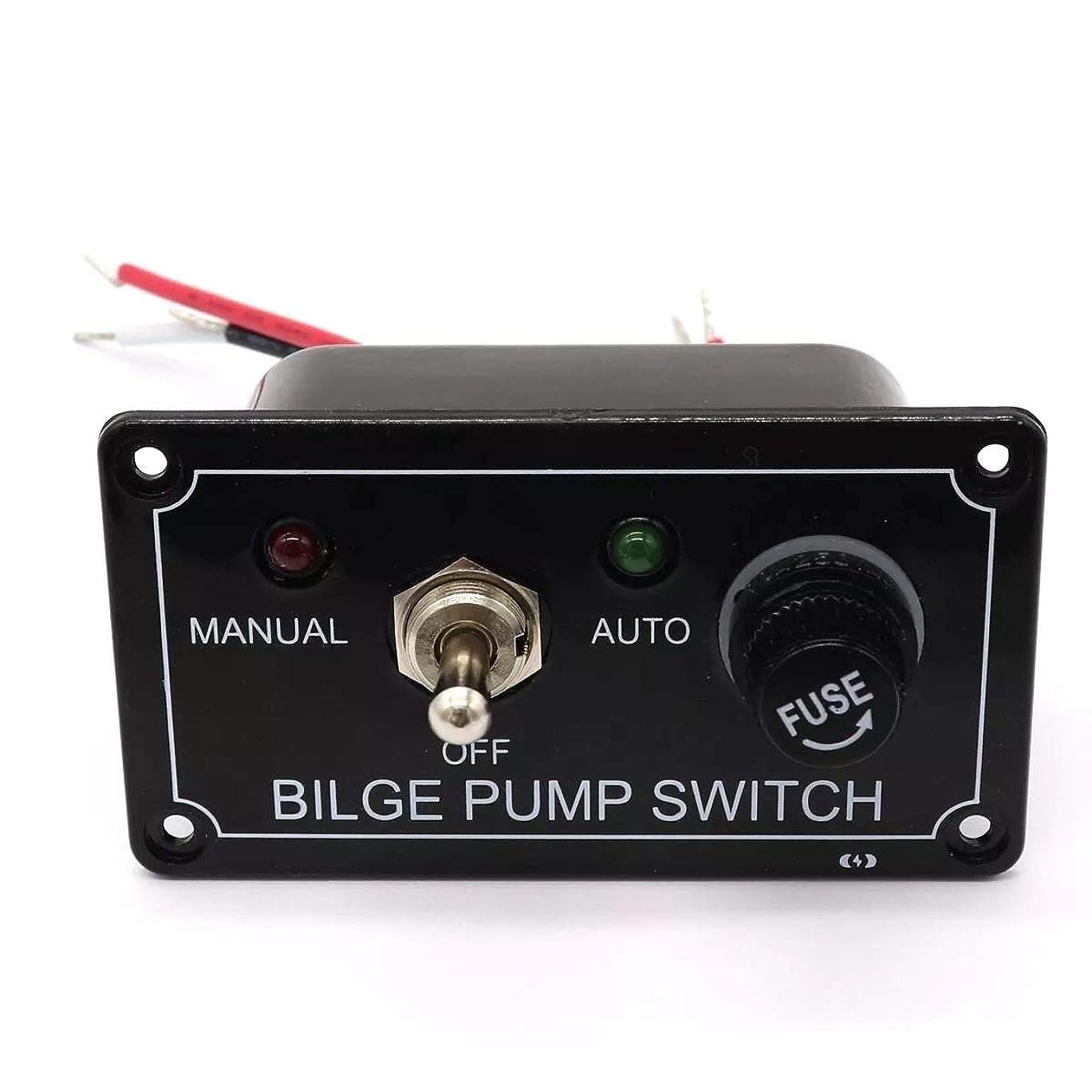 ベリーフェリー下手LEDインジケータ12Vビルジポンプスイッチパネルハウジング3ウェイパネルマニュアル/オフ/オートRVマリーンボート スイッチとソケット