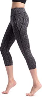 Alivebody Women's Tight Capri Yoga Legging Workout Pants with Wide Waistband for Bodybuilding
