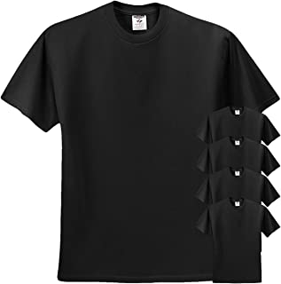 Dri-Power Active Adult Tee, L, Black (Pack of 5)