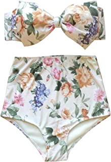 Wiwsi Women's Floral Printing Bikini Set Beach Bathing Swimwear Swimsuit Suits