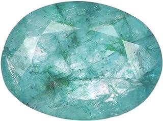 Real Gems Piedra Preciosa de Calidad AA de Esmeralda Natural, Forma Ovalada Piedra Preciosa Suelta de 6,00 CT, Piedra Prec...