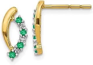 Q Gold 14k Shackle Link Screw Earrings