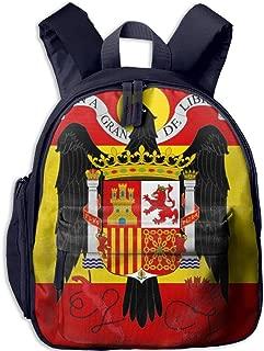 Pinta Spanish Flag Cub Cool School Book Bag Backpacks for Girl's Boy's