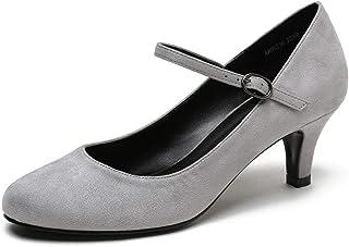 4d07fcdc Women's Girls' Round Toe Stilettos Ankle Strappy Kitten Heels Court Shoes
