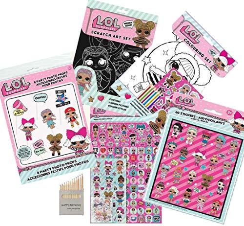LOL Surprise Pack 5 Piezas Juego de Colorear LOL Favorito de los niños, Set de...