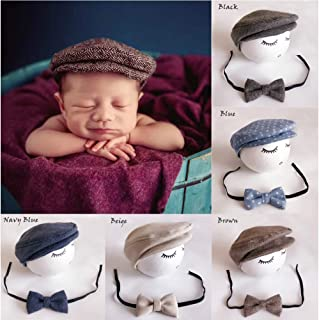 Binlunnu Newborn Baby Photography Photo Props Boy Girl Costume Outfits Hat Tie Set ¡­