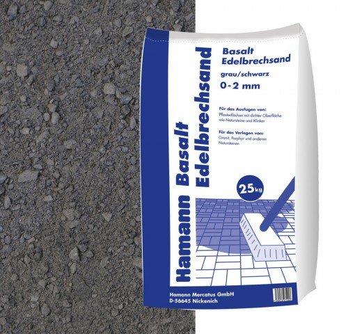 Hamann Mercatus GmbH Basalt Edelbrechsand Anthrazit 25 kg Sack - Zur dekorativen Gartengestaltung