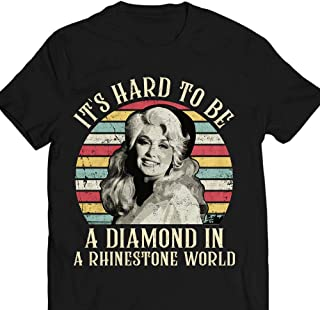debfb5f7f9b70 Vintage-Retro Dolly Parton Its-Hard-To-Be-A-Diamond