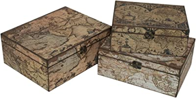 Three Hands Set of 3 Wood Boxes