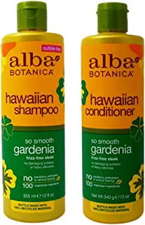 Hawaiian Hair Wash Hydrating Gardenia and Hawaiian Hair Conditioner Hydrating Gardenia With Aloe Leaf Juice, Pineapple, Papaya, Gardenia and Ginger, 12 fl. oz. Each