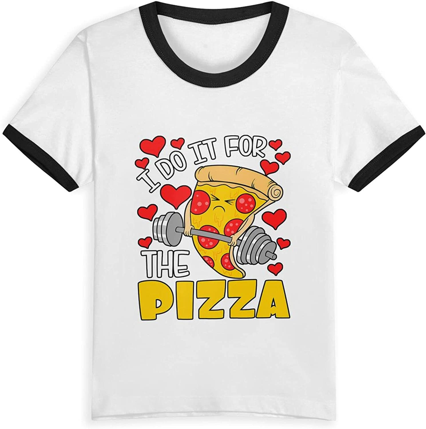 I Do It for The Pizza T-Shirts Novelty for Youth Tees with Cool Designs