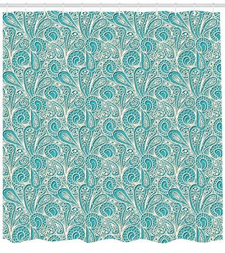 taquxinlaowan Schieferblauer Duschvorhang Zickzack Twisty Lines Print für Badezimmer