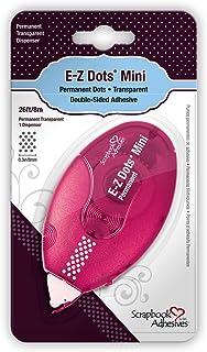 DRAEGER PARIS 1886 3L01670 Dévidoir d'adhésif Mini pastilles Doubleface E-Z Dots Permanent, Plastique, Transparent, 15 x 7...