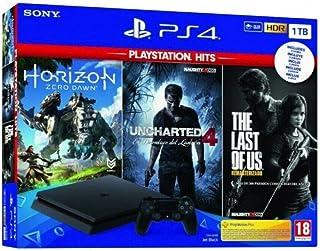 Pack: Sony PS4 Slim 1TB + Horizon Zero Dawn + Uncharted 4 +