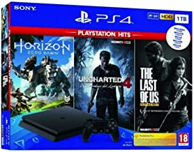 Pack: Sony PS4 Slim 1TB + Horizon Zero Dawn + Uncharted 4 +