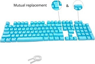 Bossi 104 Keys PBT Doubleshot Injection Keycaps Backlight Colors Replacement Keycaps for Mechanical Game Keyboard - Blue