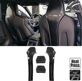 AeroBon Real Carbon Fiber Parts Accessory for BMW M-Power F80 M3/ F82 M4/ F83 M4 (Seat Back Cover)