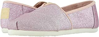 TOMS Kids Girl's Alpargata (Little Kid/Big Kid) Ballet Pink Glitter 2 Little Kid