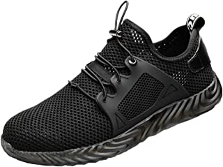 ZOZOE Men's Athletic Sneakers -Indestructible Sole Safety Work Sneakers Outdoor Casual Sports Running Shoes Breathable Running Shoes Soft Folding