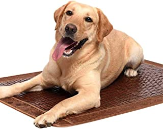 GYJ Dog mat Summer Cooling Natural Bamboo Mahjong Flexible Easy to Clean and Anti-Slip Bumps on The Surface, for Large Dog Golden Hair Teddy