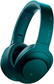 ソニー SONY ワイヤレスノイズキャンセリングヘッドホン h.ear on Wireless NC MDR-100ABN : Bluetooth/ハイレゾ対応 マイク付き ビリジアンブルー MDR-100ABN L