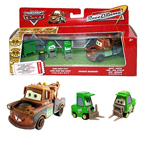 Hook, Bukowski Hicks Pitty | Disney Cars | Geschenk Set | Cast 1:55 | Mattel