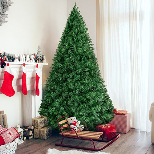 Best Choice Products 6ft Premium Hinged Artificial Christmas Pine Tree, Green, 1000 Tips