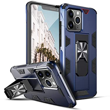 """Wismat Compatible with iPhone 12 Pro Max Case 6.7"""", Military Grade Heavy Duty iPhone 12 Pro Max 2020 Phone Cases with Magnetic Kickstand Compatible with iPhone 12 Pro Max 5g Case Anti-Drop, Navy"""