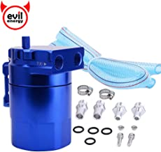 EVIL ENERGY Baffled Universal Oil Catch Can Reservoir Tank Breather Filter Kit