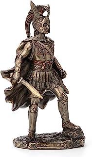 Veronese Design 12 Inch Alexander The Great Antique Bronze Finish Greek Roman Warrior Statue