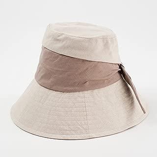 GLJJQMY Foldable Sunscreen Travel Seaside Han Da Along The Beach Hat Fisherman Hat Basin Cap Sun Hat Summer Hat (Color : Brown, Size : 54-58 * 10.5cm)