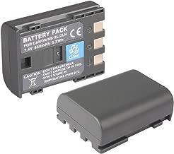 2X NB-2L NB-2LH Replacement Battery for Canon EOS 400D, EOS 350D, EOS MD265, MV960, PowerShot G7, G9, S30, S40, S45, S50, S60, S70, S80, ZR950, ZR960, HG10, HV40, DC410,DC420, Rebel XT, Rebel XTi