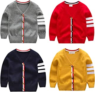 FOROOM Baby Boys Girls Button-Down Cardigan Sweater Toddler Cotton Knit Sweater 1-5t Kid